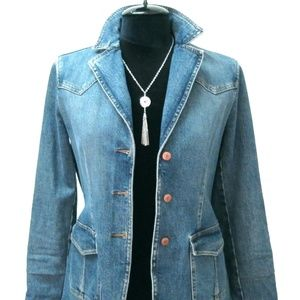 Gap Stretch Denim Jacket ~ Medium Wash ~ Size S
